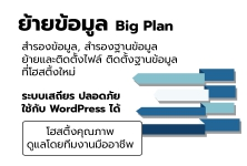 ย้ายข้อมูลไปโฮสติ้งใหม่ - Big Plan ใช้เวลาไม่เกิน 5 วัน